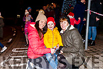 Luke Harnett with his mom Catherine and gran Anne at the switching on of the Christmas lights last Friday Night in Abbeyfeale.