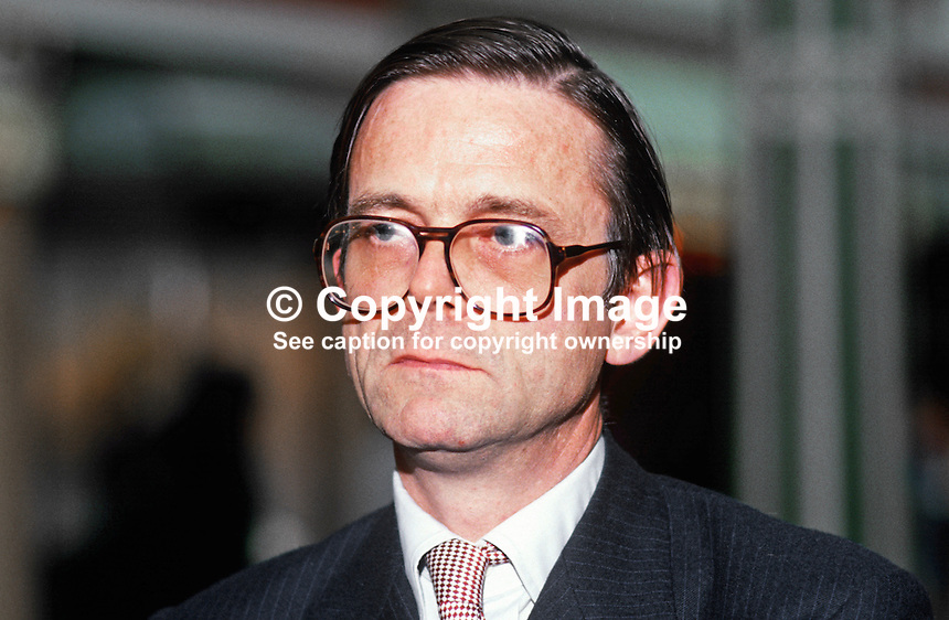 Mark Lennox-Boyd, MP, Conservative Party, UK, 19871039MLB2.<br /> <br /> Copyright Image from Victor Patterson, 54 Dorchester Park, Belfast, UK, BT9 6RJ<br /> <br /> t: +44 28 90661296<br /> m: +44 7802 353836<br /> vm: +44 20 88167153<br /> e1: victorpatterson@me.com<br /> e2: victorpatterson@gmail.com<br /> <br /> For my Terms and Conditions of Use go to www.victorpatterson.com
