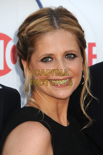 Sarah Michelle Gellar.CBS, CW and Showtime Summer 2011 TCA Party held at The Pagoda, Beverly Hills, California, USA..August 3rd, 2011.headshot portrait black  .CAP/ADM/BP.©Byron Purvis/AdMedia/Capital Pictures.