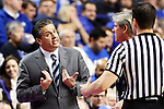 UK head coach John Calipari arguing with refs after a few tough calls against Kentucky during the second half of  the UK basketball game vs. Boise State on Tuesday, December 10, 2013, in Lexington, Ky. Photo by Kalyn Bradford | Staff