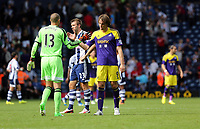 Pictured: (L-R) Boaz Myhill, Michu.<br />