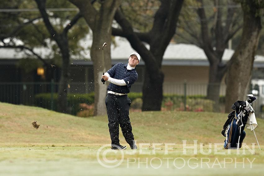 SAN ANTONIO, TX - FEBRUARY 13, 2012: The University of Tulsa Golden Hurricanes Men's Golf team competes at the UTSA Oak Hill Invitational at Oak Hills Country Club. (Photo by Jeff Huehn)