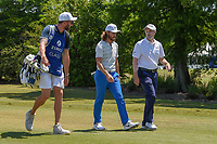 Tommy Fleetwood (ENG) and Russell Knox (IRL) chat as they head down 1 during Round 4 of the Zurich Classic of New Orl, TPC Louisiana, Avondale, Louisiana, USA. 4/29/2018.<br /> Picture: Golffile | Ken Murray<br /> <br /> <br /> All photo usage must carry mandatory copyright credit (&copy; Golffile | Ken Murray)