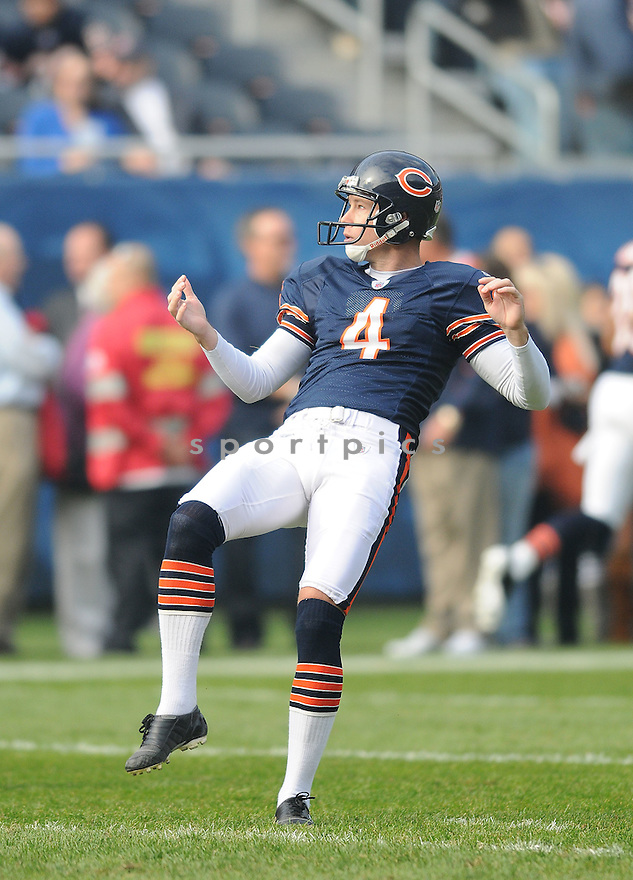 BRAD MAYNARD, of the Chicago Bears, in action during the Bears game against the Arizona Cardinals on November 8, 2009 in Chicago, IL. Cardinals won 41-21.