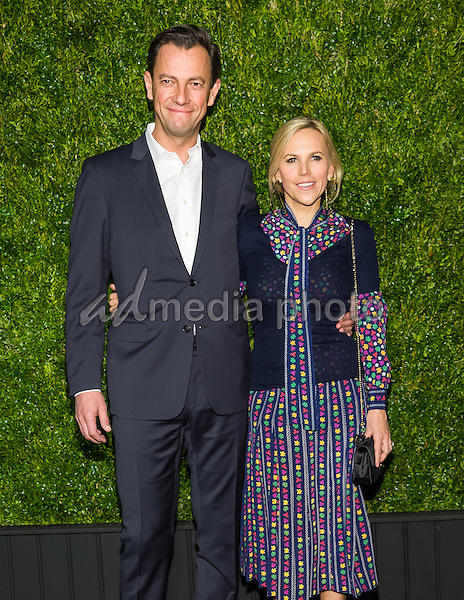 18 April 2016 - New York, New York- Pierre-Yves Roussel, Tory Burch. Chanel Artists Dinner at Tribeca Film Festival. Photo Credit: Mario Santoro/AdMedia