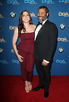 BEVERLY HILLS, CA - FEBRUARY 3: Chelsea Peretti and Jordan Peele   at the 70th Annual Directors Guild of America Awards (DGA, DGAs), at The Beverly Hilton Hotel in Beverly Hills, California on February 3, 2018.  <br /> CAP/MPI/FS<br /> &copy;FS/Capital Pictures