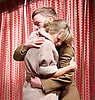 A View from Islington North <br /> directed by Max Stafford-Clark<br /> at The Arts Theatre, London, Great Britain <br /> press photocall <br /> 22nd May 2016 <br /> <br /> press photocall <br /> 20th May 2016 <br /> <br /> <br /> Five short plays by Caryl Churchill, Mark Ravenhill, David Hare , Alistair Beaton and Stella Feehily <br /> <br /> The Mother by Mark Ravenhill <br /> Sarah Alexander as Hayley Morrison <br /> Joseph Prowden as Private Crawford<br /> <br /> <br /> <br /> <br /> Photograph by Elliott Franks <br /> Image licensed to Elliott Franks Photography Services