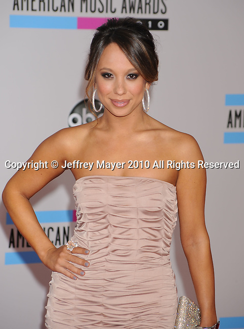 LOS ANGELES, CA. - November 21: Cheryl Burke arrives at the 2010 American Music Awards held at Nokia Theatre L.A. Live on November 21, 2010 in Los Angeles, California.