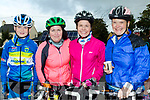 Tour De Harvest<br /> ----------------------<br /> l-R Michael Guerin, Emma Cunnane, Tracy Smith with Kate Guerin all wrapped up for the Harvest cycle in Ardfert last Saturday.
