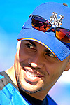 17 March 2007: New York Mets center fielder Carlos Beltran waits to take the field prior to facing the Washington Nationals at Tradition Field in Port St. Lucie, Florida...Mandatory Photo Credit: Ed Wolfstein Photo