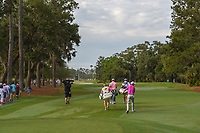 Jon Rahm (ESP) and Ross Fisher (ENG) head down 2 during round 4 of The Players Championship, TPC Sawgrass, at Ponte Vedra, Florida, USA. 5/13/2018.<br /> Picture: Golffile | Ken Murray<br /> <br /> <br /> All photo usage must carry mandatory copyright credit (&copy; Golffile | Ken Murray)