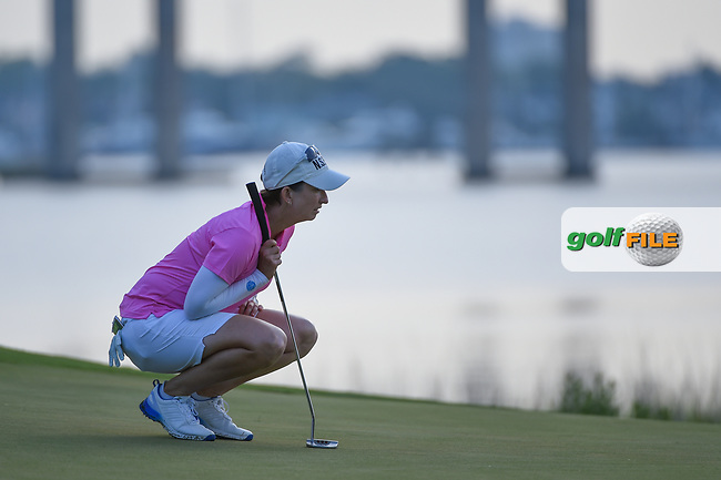 Karrie Webb (AUS) lines up her putt on 10 during round 2 of the 2019 US Women's Open, Charleston Country Club, Charleston, South Carolina,  USA. 5/31/2019.<br /> Picture: Golffile | Ken Murray<br /> <br /> All photo usage must carry mandatory copyright credit (© Golffile | Ken Murray)