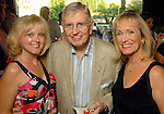 Brenda Cheney, Milo Hamilton and Peggy Tuck at the Astros Wives party at Mo's..A Place for Steaks Sunday evening June 07,2009.(Dave Rossman/For the Chronicle)