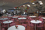 Suffolk Norfolk air museum cafe in hangar, Flixton, near Bungay, England Norfolk  Suffolk aviation museum Flixton Bungay England.