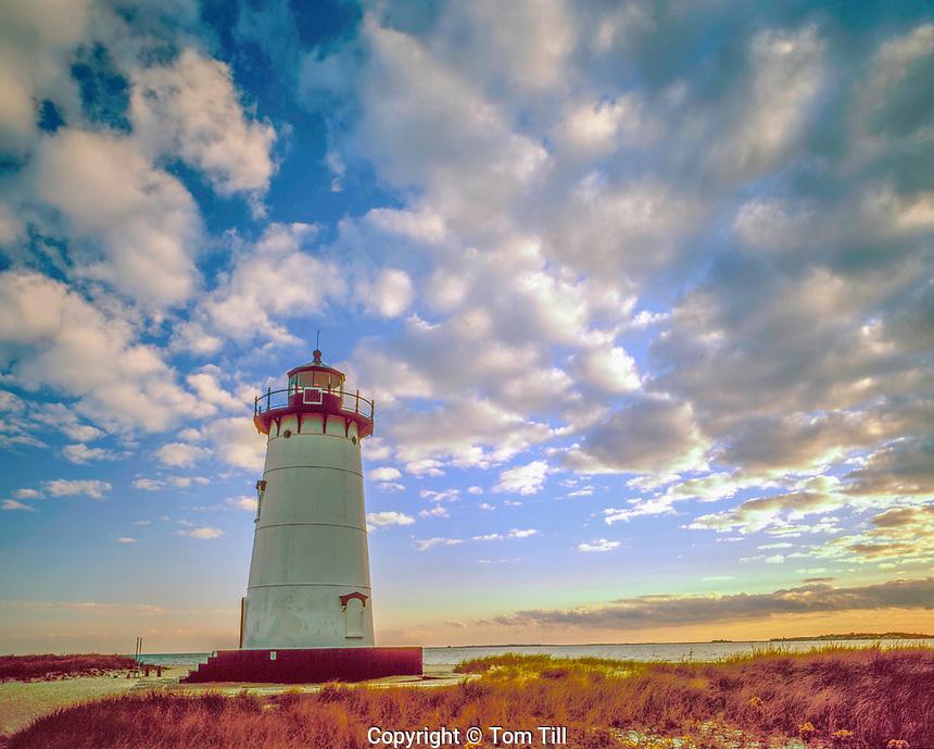 Edgartown Lighthouse, Martha's VIneyard, Massachusetts, Atlantic Ocean Sunrise