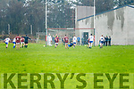 A penalty for Dromid and Christopher ÓFaircheallaigh makes no mistake as he drives the ball to the left sending St Marys keeper Mike Daly to the right.