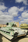 Israel, the British Matilda tank at the Armored Corps Memorial Site and Museum in Latrun
