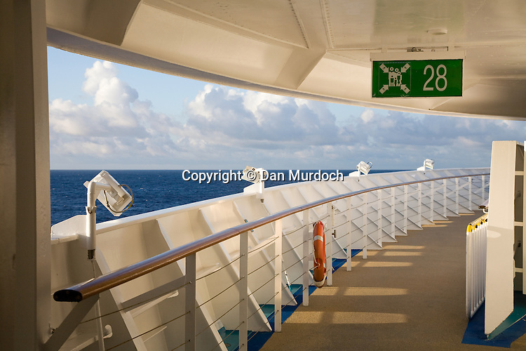 "Walking the decks of the Royal Caribbean cruise ship ""Explorer of the Seas""."