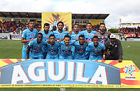 IPIALES - COLOMBIA, 05-06-2019: Jugadores del Union posan para una foto previo al partido por la fecha 6, cuadrangulares semifinales, de la Liga Águila I 2019 entre Deportivo Pasto y Unión Magdalena jugado en el estadio Estadio Municipal de Ipiales. / Players of Union pose to a photo prior match for the date 6, semifinal quadrangulars, as part of Aguila League I 2019 between Deportivo Pasto and Union Magdalena played at Municipal stadium of Ipiales.  Photo: VizzorImage / Leonardo Castro / Cont