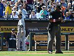 Hiroki Kuroda (Yankees),.MAY 12, 2013 - MLB :.Hiroki Kuroda of the New York Yankees glares at the home plate umpire in irritation after being pulled in the eighth inning during the baseball game against the Kansas City Royals at Kauffman Stadium in Kansas City, Missouri, United States. (Photo by AFLO)