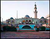 ERITREA, Asmara, people gathered in front of a mosque at the end of the day