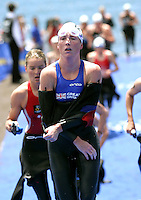 09 MAY 2004 - FUNCHAL, POR - Andrea Whitcombe (GBR) - Elite Womens World Triathlon Championships .(PHOTO (C) NIGEL FARROW)