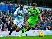 Blackburn Rovers' Ryan Nyambe vies for possession with Norwich City's Jamal Lewis<br /> <br /> Photographer Alex Dodd/CameraSport<br /> <br /> The EFL Sky Bet Championship - Blackburn Rovers v Norwich City - Saturday 22nd December 2018 - Ewood Park - Blackburn<br /> <br /> World Copyright © 2018 CameraSport. All rights reserved. 43 Linden Ave. Countesthorpe. Leicester. England. LE8 5PG - Tel: +44 (0) 116 277 4147 - admin@camerasport.com - www.camerasport.com