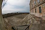 An outdoor area of Alcatraz in San Francisco, California. (Photo by Brian Garfinkel)
