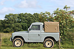 1960s grey Land Rover Series 2a 88in pick up. Dunsfold Collection of Land Rovers Open Day 2011, Dunsfold, Surrey, UK. --- No releases available, but releases may not be necessary for certain uses. Automotive trademarks are the property of the trademark holder, authorization may be needed for some uses.