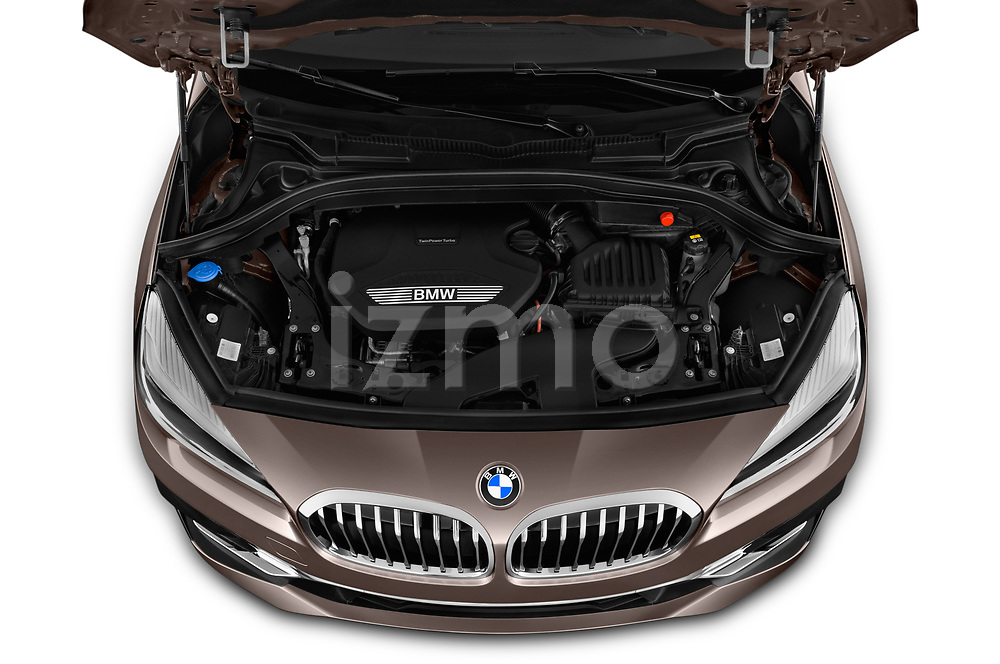 Car stock 2018 BMW bmw 2activetourluxmv1fb 5 Door Mini Van engine high angle detail view