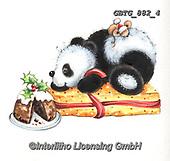Theresa, CHRISTMAS ANIMALS, WEIHNACHTEN TIERE, NAVIDAD ANIMALES, paintings+++++,GBTG882/4,#xa# ,sticker,stickers ,panda,pandas