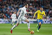 Garet Bale of Real Madrid  during the match of Spanish La Liga between Real Madrid and UD Las Palmas at  Santiago Bernabeu Stadium in Madrid, Spain. March 01, 2017. (ALTERPHOTOS / Rodrigo Jimenez) /NORTEPHOTOmex