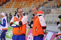 SPEEDSKATING: SOCHI: Adler Arena, 20-03-2013, Training, Jac Orie (trainer/coach Team BrandLoyalty/Activia), Sicco Janmaat (assistent trainer Team BrandLoyalty/Activia), © Martin de Jong