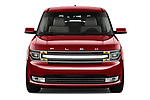 Car photography straight front view of a 2019 Ford Flex Limited 5 Door SUV