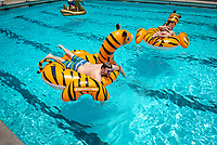 GOLD (Graduates of the Last Decade) Pool Party at Taylor Pool<br /> Occidental College hosts its annual Alumni Reunion Weekend, June 22-24, 2018 on campus. This year, alumni from the classes of 1968, 1973, 1978, 1983, 1988, 1993, 1998, 2003, 2008 and 2013 gathered to reconnect with friends and family in the Oxy community.<br /> (Photo by Marc Campos, Occidental College Photographer)