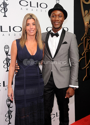 New York, NY- October 1:Nicole Purcell and  Aloe Blacc attends the 2014 CLIO Awards on October 1, 2014 at Cipriani Wall Street in New York City.  Credit: John Palmer/MediaPunch