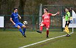 2018-03-11 / Voetbal / Seizoen 2017-2018 / Vosselaar VV - Kapellen / Yannick Defossez (l. Vosselaar) met Tom Floren<br /> <br /> ,Foto: Mpics.be