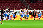 1:1 Torjubel Mainz durch den Mainzer Robin Quaison beim Spiel in der Fussball Bundesliga, 1. FSV Mainz 05 - Bayer 04 Leverkusen (dunkel).<br /> <br /> Foto &copy; PIX-Sportfotos *** Foto ist honorarpflichtig! *** Auf Anfrage in hoeherer Qualitaet/Aufloesung. Belegexemplar erbeten. Veroeffentlichung ausschliesslich fuer journalistisch-publizistische Zwecke. For editorial use only.
