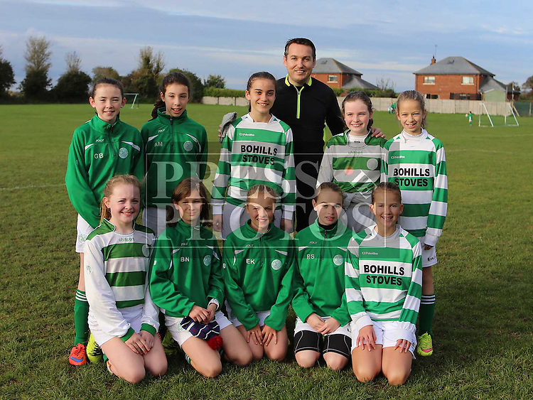 Termonfeckin FC U14 Girls ahead of match against Ardee Celtic at Termonfeckin FC <br /> <br /> <br /> Photo - Jenny Matthews
