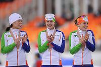 SPEEDSKATING: SOCHI: Adler Arena, 24-03-2013, Essent ISU World Championship Single Distances, Day 4, Team Pursuit Ladies, © Martin de Jong