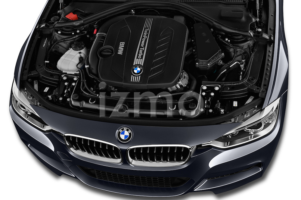Car Stock 2017 BMW 3-Series 328d-Sports-Wagon 5 Door Wagon Engine  high angle detail view