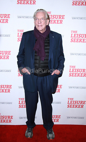NEW YORK, NY January 11, 2018:Donald Sutherland attend Sony Pictures Classics  present screening of The Leisure Seeker  at AMC Loews Lincoln Square  in New York City.January  11, 2018. Credit:RW/MediaPunch