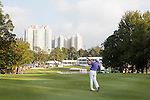 Sam Brazel of Australia plays an approach shot on the 18th hole during the 58th UBS Hong Kong Golf Open as part of the European Tour on 11 December 2016, at the Hong Kong Golf Club, Fanling, Hong Kong, China. Photo by Vivek Prakash / Power Sport Images