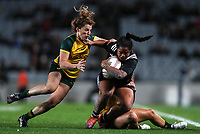 Ayesha Leti-I-Iga in action during the International Women's Rugby match between the New Zealand All Blacks and Australia Wallabies at Eden Park in Auckland, New Zealand on Saturday, 17 August 2019. Photo: Simon Watts / lintottphoto.co.nz