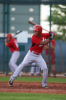 Cincinnati Reds Miles Gordon (69) during an instructional league game against the Cleveland Indians on October 17, 2015 at the Goodyear Ballpark Complex in Goodyear, Arizona.  (Mike Janes/Four Seam Images)