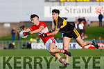 Tomas Mac a'tSithigh Dingle in action against Tony Brosnan of Dr. Crokes during the Kerry County Senior Club Football Championship Final match between Dr Crokes and Dingle at Austin Stack Park in Tralee, Kerry on Sunday.