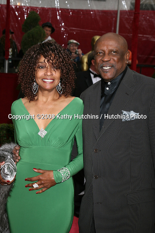 Beverly Todd & Lou Gossett Jr.80th Academy Awards ( Oscars).Kodak Theater.Los Angeles, CA.February 24, 2008.©2008 Kathy Hutchins / Hutchins Photo....