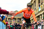 Greg Van Avermaet (BEL) CCC Team at sign on before Stage 4 of the 2019 Tour de Yorkshire, running 175km from Halifax to Leeds, Yorkshire, England. 5th May 2019.<br /> Picture: ASO/SWPix | Cyclefile<br /> <br /> All photos usage must carry mandatory copyright credit (&copy; Cyclefile | ASO/SWPix)