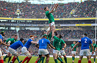 Sunday10th March 2019 | Ireland vs France<br /> <br /> Iain Henderson secures this lineout ball for Ireland during  the Guinness 6 Nations clash between Ireland and France at the Aviva Stadium, Lansdowne Road, Dublin, Ireland. Photo by John Dickson / DICKSONDIGITAL