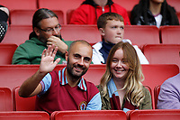 An Aston Villa fan resembling the Manchester City manager Pep Guardiola seen during the Premier League match between Arsenal and Aston Villa at the Emirates Stadium, London, England on 22 September 2019. Photo by Carlton Myrie / PRiME Media Images.